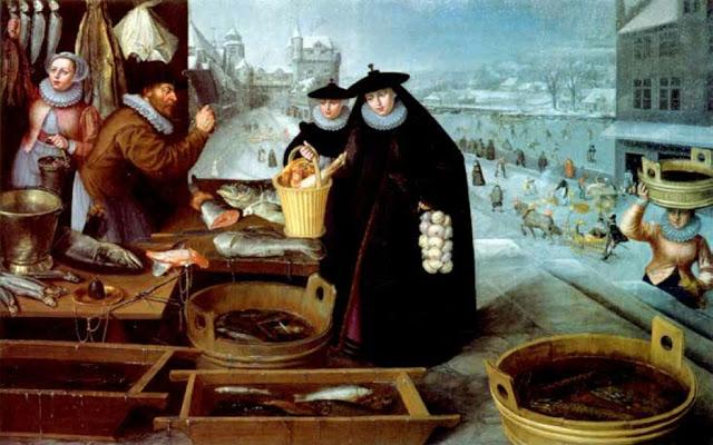 Lucas van Falkenborch. Zima 1595